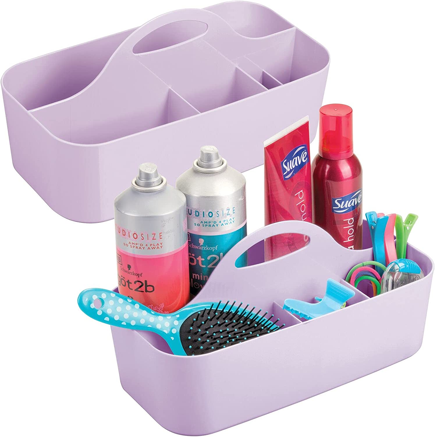 mDesign Plastic Portable Storage Organizer Sales of SALE items Austin Mall from new works Caddy Divided Tote -