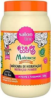 Salon Line Creme Hidratação Maionese Capilar Nutrição Power, Branco