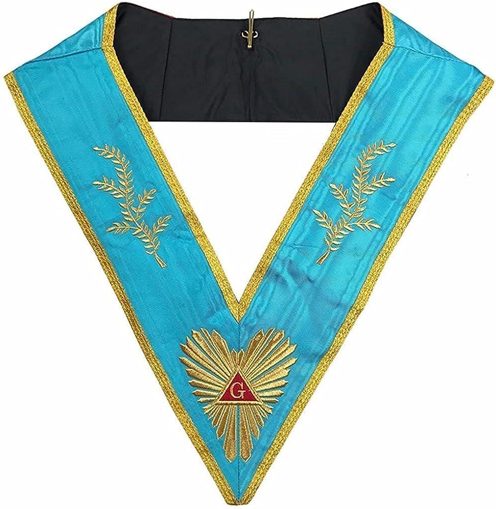 Masonic Memphis Misraim Past Master Worshipful collar Machine embroidery