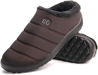 شباشب مريحة للنساء من إسفنج الذاكرة في الشتاء مبطن بالصوف الصناعي حذاء منزلي مضاد للانزلاق نعل مطاطي داخلي خارجي