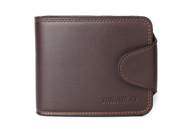 電子レンジなしで同化するGenda 2?Archer PUレザー財布メンズ二つ折りクレジットカードホルダーコインポケット