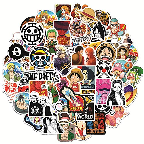 DSSK 100Pcs Anime Stickers DIY Pirate Graffiti Stickers Waterproof Suitcase Laptop Scooter Motorcycle Refrigerator Stickers
