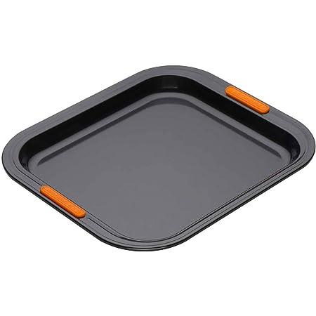 LE CREUSET 94100437000000 Toughened Non-Stick Bakeware Rectangular Oven Tray, 31 cm, Black