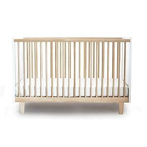 Oeuf Rhea Crib, Birch/White