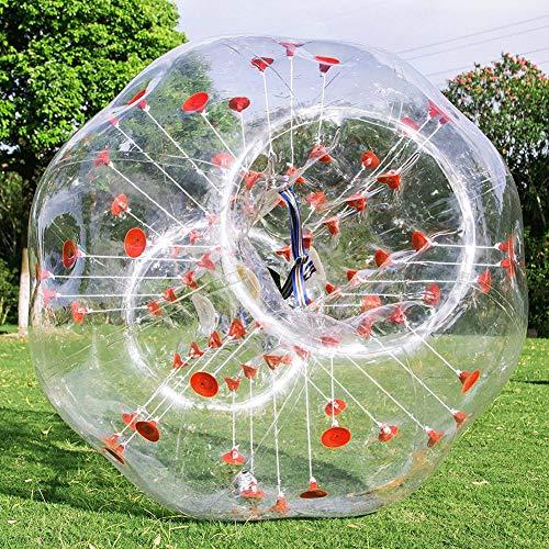 Bubball Pelota de Burbuja Inflatable Bumper Ball Bola Hinchable PVC Bola de Zorb Bola de hámster Humana para Adultos y niños Al Aire Libre Jardín Juego,1.8m