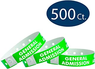 WristCo Neon Green General Admission Plastic Wristbands - 500 Pack Wristbands for Events