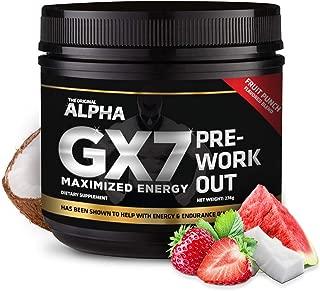 Alpha Gx7 Pre Workout - 30 Servings Fruit Punch Flavor