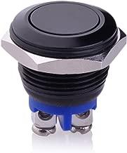 Ulincos U16A1 Black 16mm Push Button Switch