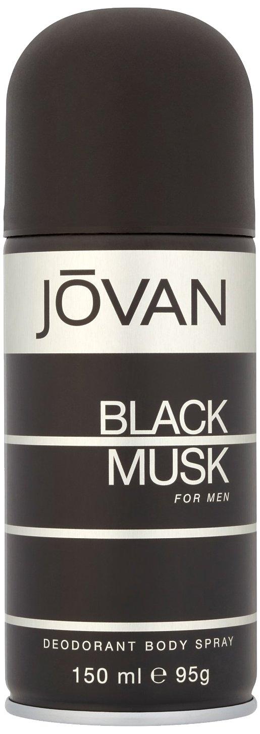 Coty Jovan Black Musk Deodorant Body Spray for Men, 5 Ounce