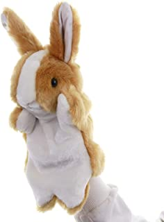 SweetGifts Bunny Hand Puppets Plush Animal Toys for Imaginative Pretend Play Stocking Storytelling