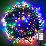 Blingstar Christmas Lights Colored String Lights 33ft 100 LED Waterproof Multicolor Twinkle Lights 8 Modes 30V Plug in Fairy String Lights for Indoor Outdoor Xmas Tree Bedroom Garden Party Decor
