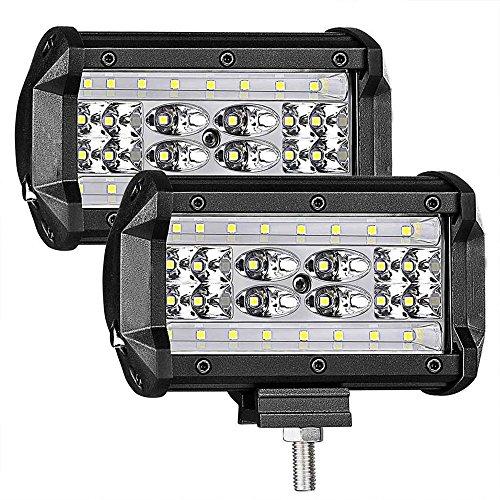 GZCRDZ Lot de 2 spots LED étanches pour camion, moto, bateau Noir 12,7 cm 168 W