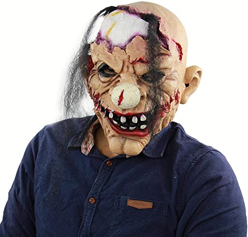 a la venta Circlefly Circlefly Circlefly Peluca de látex del Payaso Zombie Miedo Halloween Haunted casa Vestido de máscara Mascarada máscara de Miedo  Envío rápido y el mejor servicio