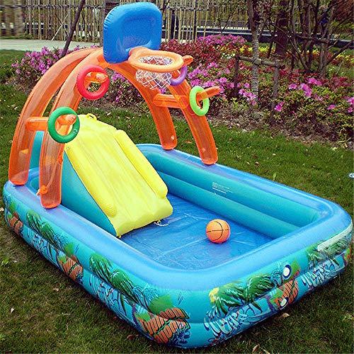 Opblaasbare Zwembaden, Multifunctionele Opblaasbare Splash Kleuterbad Zwembad Spray Game Zwembad Met Glijbaan for Kids Kinderen