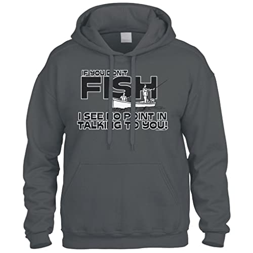 There Are Three Fish Sizes Mens Funny Fishing Hoodie Fish Fisherman Tackle Rod