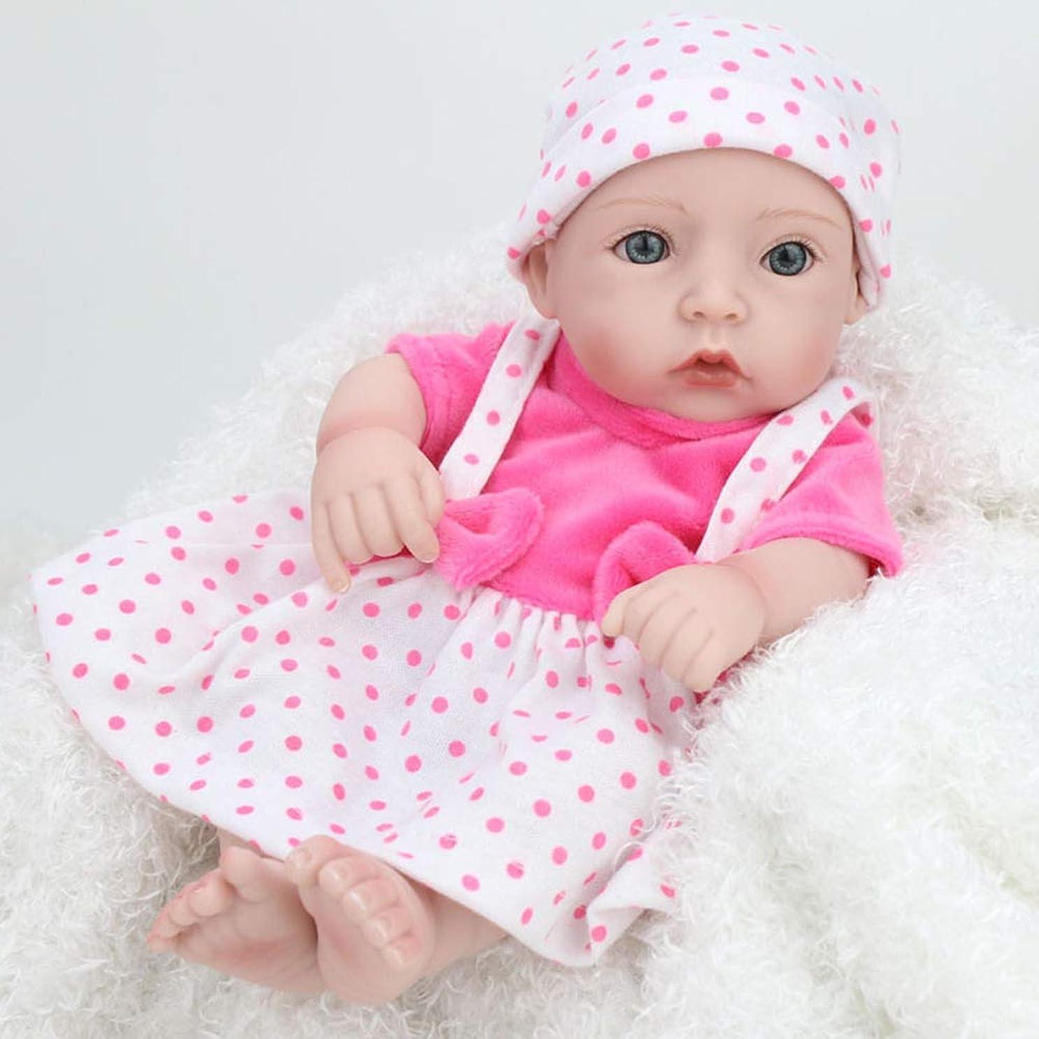 ブロッサム出会いまっすぐにする生まれ変わった赤ちゃんミニ人形10インチ生まれ変わった赤ちゃん人形用女の子ギフトリアルな人形赤ちゃん用プレイハウスおもちゃシミュレータ人形