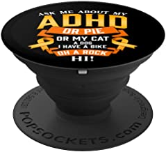 Funny ADHD Quote Attention Deficit Disorder Awareness Ribbon PopSockets Grip and Stand for Phones and Tablets