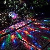 WYQSX Solarleuchten Spot Licht Drehbare Bunt...