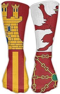 Jesse Tobias, Símbolos de banderas de España Unisex Novedad Calcetines de equipo Vestido de tobillo Calcetines Se adapta al zapato