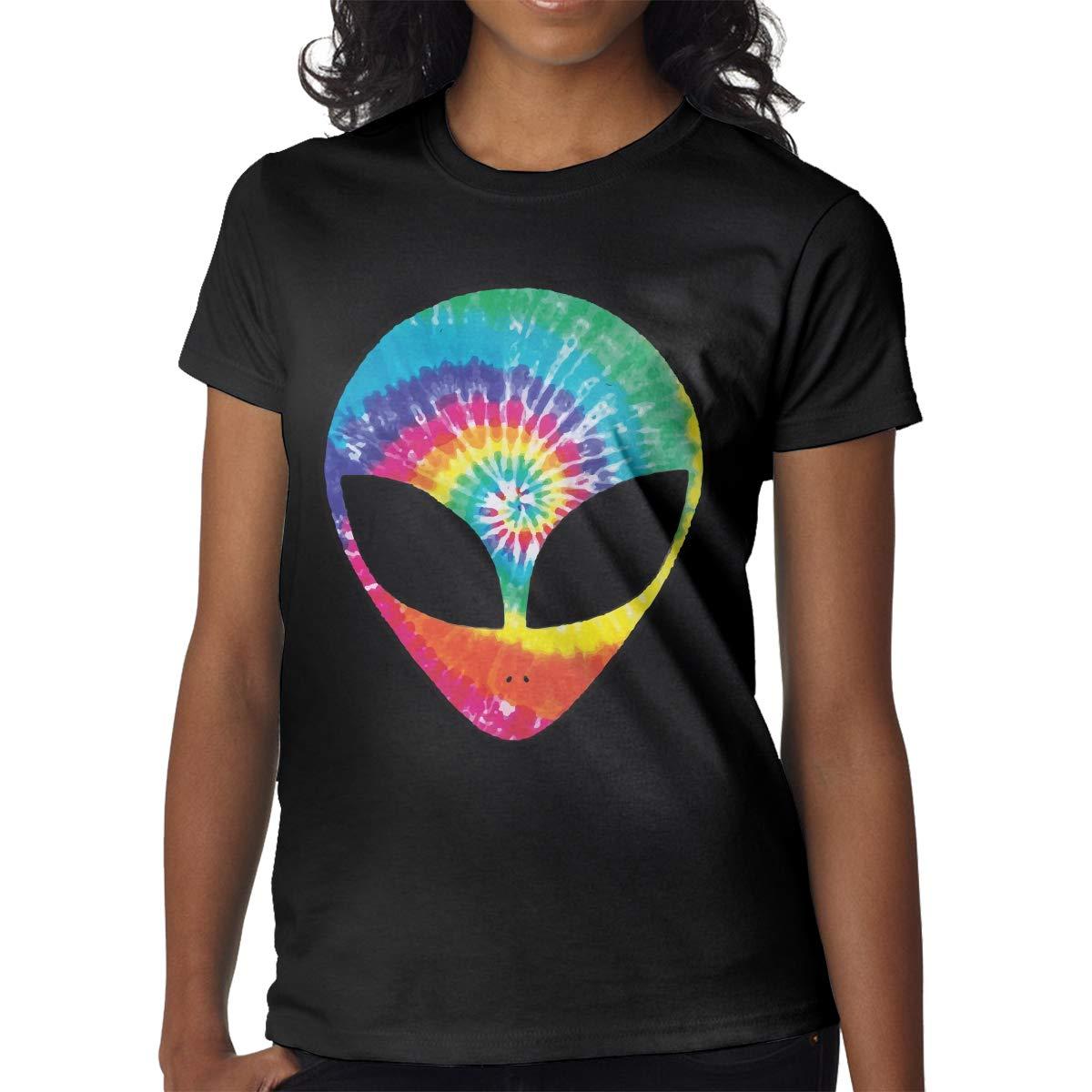 Rainbow Tie Dye Alien Head 2-6 Years Old Children Short-Sleeved Tshirts
