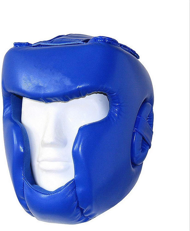 Havanadd Boxen Kopfbedeckungen Volle Volle Volle geschlossene Art Boxing MMA Kickboxen Kopf Getriebe Boxing Helm Kopfschutz Sparring Muay Thai Kick Brace Kopfschutz (Farbe   Blau, Größe   L) B07PTYBMCC  Meistverkaufte weltweit 596f08