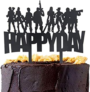 Awyjcas Kid Happy Day Cake Topper Video Game Party Favors Supplies Baby Boy Birthday Cake Decoration Party Decorations