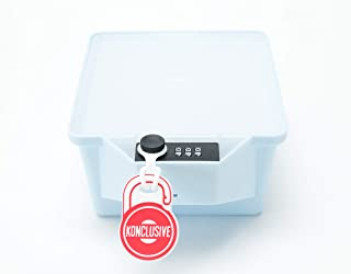 Konclusive Container   Stash Container with a Lock   Protect your Flower & Edibles   Keep Safe From Teens & Kids   Anti -Theft & Tampering   Made in the USA   Ocean Blue