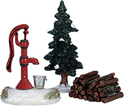Lemax Village Collection Water Pump, Tree and Firewood Set of 3 #34953