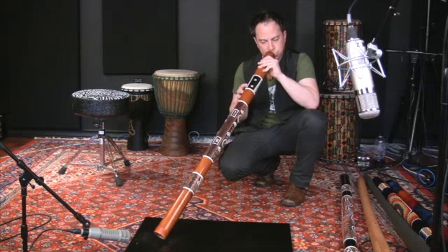 X8 Drums Bamboo Didgeridoo Black Painted Gecko Design with Bag