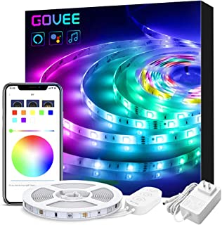 Smart LED Strip Lights Works with Alexa, Govee APP Control 16.4ft WiFi Light Strip, Music Sync 16 Million Colors RGB LED Lights for Room, Home, Kitchen, TV, Party, Halloween, Christmas, Waterproof