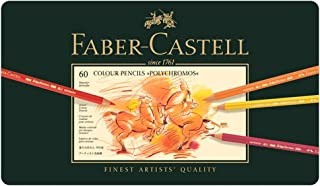 Faber-Castell Polychromos Artists' Color Pencils - Tin of 60 Colors - Premium Quality Artist Pencils