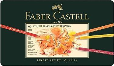 Faber-Castell Polychromos Artists' Color Pencils - Tin of 60 Colors - Premium Quality Artist Pencils