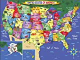 White Mountain Puzzles USA Map, 300Piece Jigsaw Puzzle