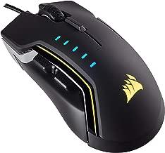 CORSAIR GLAIVE - RGB Gaming Mouse - Comfortable & Ergonomic - Interchangeable Grips - 16000 DPI Optical Sensor - Aluminum (Renewed)