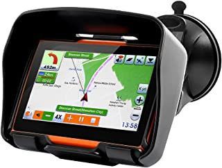 Koolertron 4.3 Inch All Terrain Waterproof Motorcycle GPS Navigation System With Latest Version V.912S