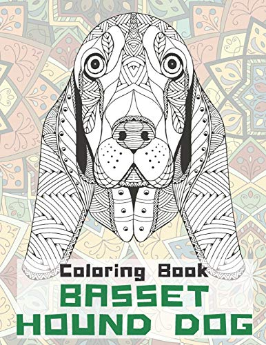 Basset hound Dog - Coloring Book