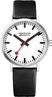Mondaine - Classic - Reloj de Cuero Negro para Hombre y Mujer, A660.30314.16SBB, 36 MM