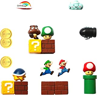 HXDZFX Super Mario Fridge Magnets - 18 PCS Refrigerator Magnets,Office Magnets,Calendar Magnet,Whiteboard Magnets,Christmas Magnets,Perfect for Ornaments Decoration collectionism
