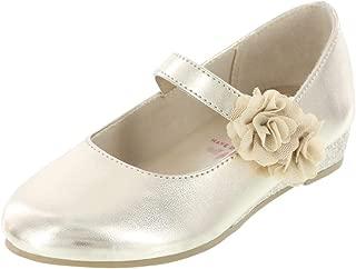 Girls' Toddler Flower Wedge Dress Shoe
