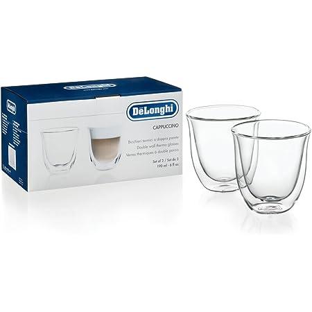 Delonghi 5513214601Pack de 2 Verre à cappuccino isolé