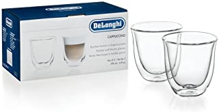 De'Longhi Cappuccino Glasses, 6 fl. oz, Set of 2, 5513214601 / 5513284161