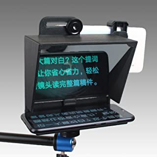 S18 - Portable Mini Teleprompter for All Smartphone with Remote Control