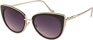 TrendyMate Women Metal Cute Cat Eye Mirror Sunglasses Fashion Eyewear
