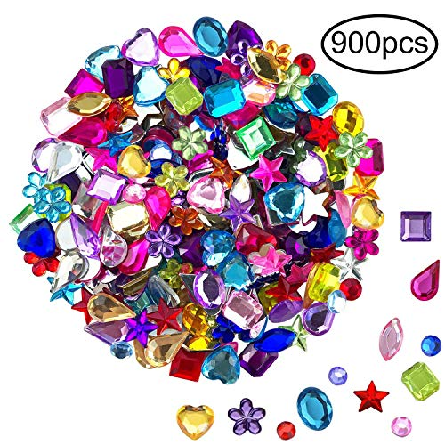 Craft Sew notion Plastic Flat Back Button 16mm 60pcs Flower Shape Acrylic Stone