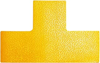 Durable T 170004 Pitch Marking in T Shape Self-Adhesive and Abrasion Resistant Pack of 10 RAL 1003 Signal Yellow