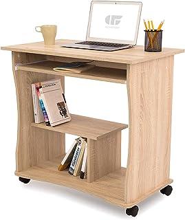 COMIFORT Biurko z wysuwaną półką – wytrzymały i przestronny stolik pod komputer w nowoczesnym i minimalistycznym stylu, z ...