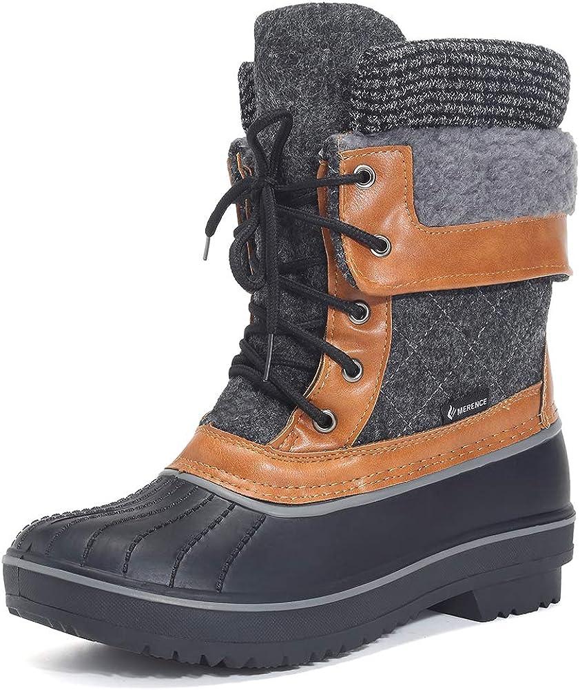 EQUICK Women's Waterproof Winter Snow Boots II II Mid-High Shoes
