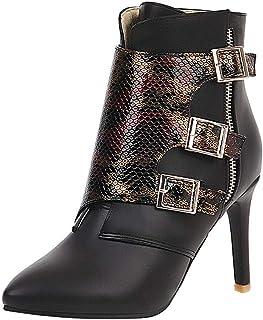 manadlian Bottes Femmes Talons Hauts Boots Plateforme Imperméables Botte en Cuir Chic Escarpins Femme Hiver Bottes Chelsea...