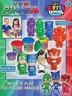 Cra-Z-Art PJ Masks Softee Dough Mold N' Play 3D Figure Maker, Multicolor