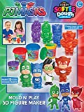 Cra-Z-Art PJ Masks Softee Dough Mold N' Play 3D Figure Maker, Multicolor